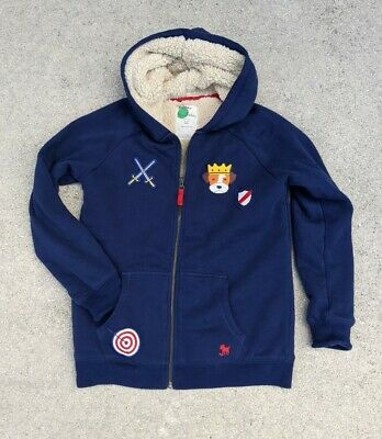 £26.90 • Buy Mini Boden Boys Blue Shaggy Lined Applique Hoodie Navy Size 11-12