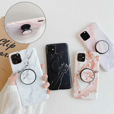 AU11.05 • Buy Marble Phone Back Case For IPhone 12 12Pro XR XS Max 6s 7 Plus Cover With Holder