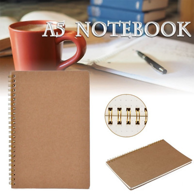 AU15.38 • Buy A5 Bullet Journal Notebook Hardcover Cardboard Grid Dotted Spiral Diary Office