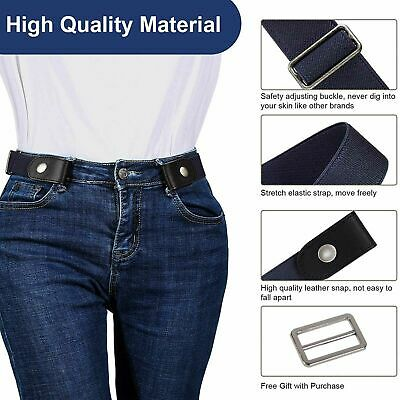 £3.29 • Buy Buckle-free Elastic Invisible Waist Belt For Jeans No Bulge Hassle Mens Womens