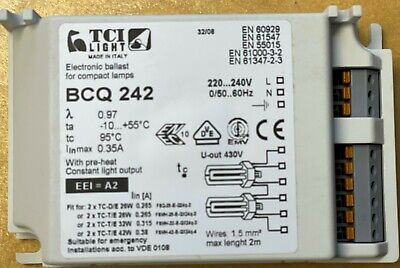 £10 • Buy Electronic Ballast For Compact Lamps Variable 2 X TC-T/E  26w/32w/42w