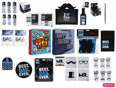 £3.25 • Buy Fathers Days Items - Gift Dad Card Balloon Present Socks Bag Best Badge Birthday