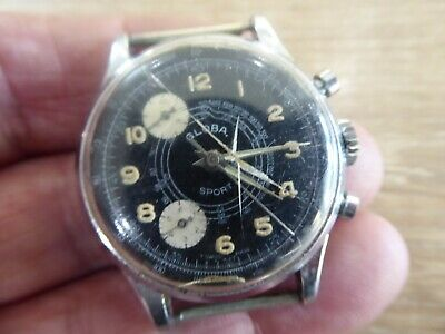 $ CDN44.46 • Buy Vintage Globa Sport Gents Chronograph Type Wristwatch
