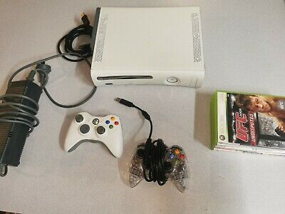 AU119.99 • Buy Xbox 360 60GB Console + 4 Games + Genuine Controllers X 2 + Power & Cords