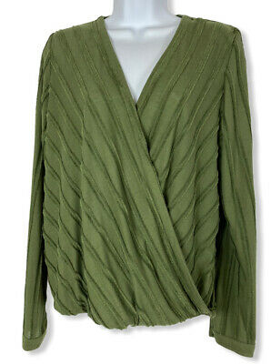 $ CDN30.20 • Buy NWT Anthropologie Maeve Vertical Long Sleeve Top- Size L-Color Olive Green- NICE