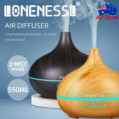 AU19.99 • Buy 550ML Diffuser Aroma Aromatherapy LED Oil Ultrasonic Air Humidifier Purifier