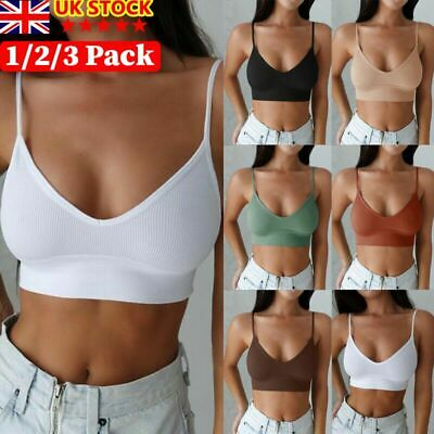 £7.88 • Buy Womens Strappy Sport Yoga Backless Bralette Padded Bra Crop Top Cami Vest Tank`