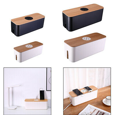 £12.79 • Buy Cable Management Storage Box Cord Tidy Box Safety Organizer For Home Office