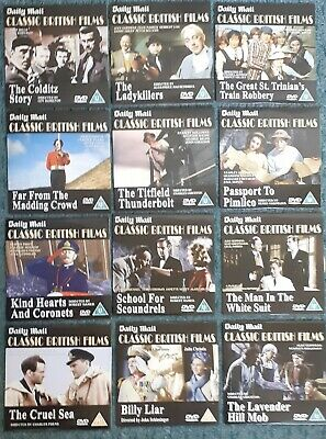 £5.99 • Buy Daily Mail: Set Of 12 Classic British Films Of The 1940's Through To The 1960's