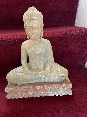 Large Sitting Thai Buddha Stone / Ceramic Statue / Ornament • 5£