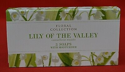 £13.50 • Buy MARKS & SPENCER FLORAL COLLECTION LILY OF THE VALLEY 3 SOAP BARS SET - 3 X 75g!