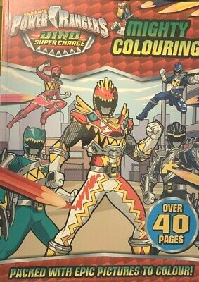 £4.95 • Buy NEW POWER RANGERS  - MIGHTY COLOURING Over 40 Pages DINO SUPERCHARGE