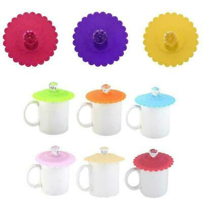 £2.48 • Buy 1x Silicone Cup Lid Anti-dust Glass Drink Cover Coffee Mug Suction Seal Lid Cap
