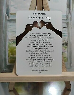 £3.20 • Buy Waterproof Grave Card Memorial Fathers Day FD10