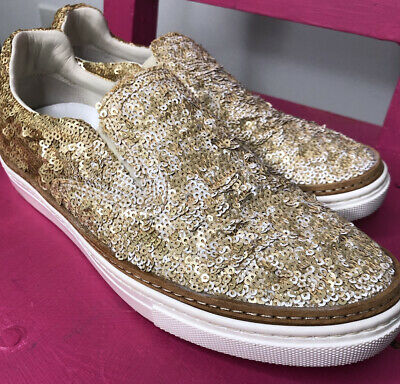 $59.40 • Buy MAISON MARTIN MARGIELA Hand-Sewn Sequin Slip-On Shoe Made In Italy Size 37