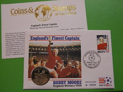 AU3.58 • Buy Bu Coin Cover Turks & Caicos 5 Crowns 1994 World Cup, Depicting England 1966