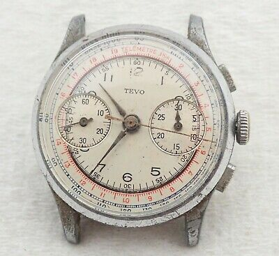 $ CDN97.95 • Buy Vintage Mens Swiss Tevo Chronograph Wristwatch Watch Parts Repair