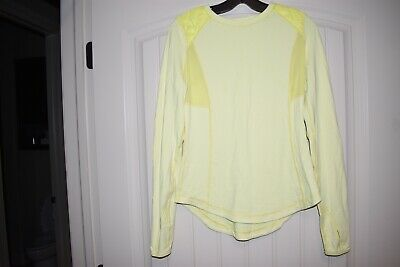 $ CDN12.12 • Buy Lululemon Run Ice Queen Long Sleeve Rulu Clarity Yellow 4 6