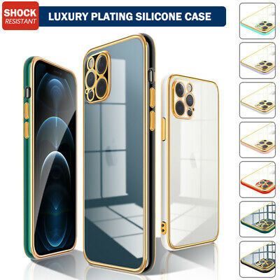 AU11.69 • Buy For IPhone 12 11 Pro Max XS XR 8 7 SE2020 Plating Case Silicone Shockproof Cover