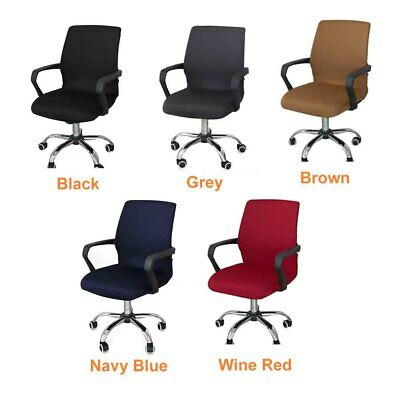 AU19.66 • Buy Modern Simplism Computer Seat Thickened Office Chair Cover Protective High Back
