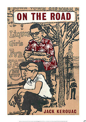 £11.90 • Buy ON THE ROAD New POSTER Of Vintage Book Cover, A1 Size