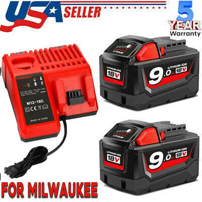 $46.89 • Buy For Milwaukee M18 XC 9.0AH Extended Lithium-ion Battery 48-11-1890 OR Charger US