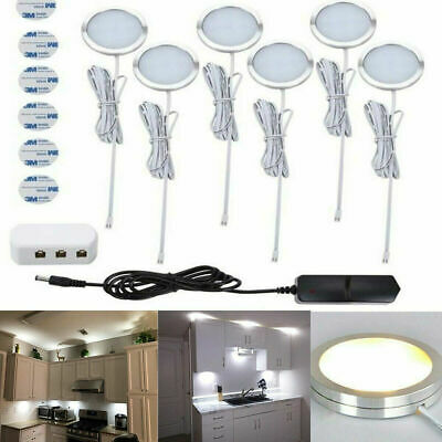 £14.29 • Buy 3/6x LED Under Cabinet Spot Light Counter Kitchen Cupboard Display Lamp Lighting