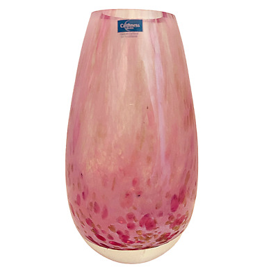 £23.99 • Buy Caithness Glass Vase Pink Gold Fleck Speckle 13cm Handcrafted In Scotland Rare
