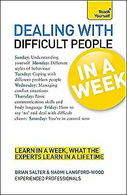$ CDN3.96 • Buy Teach Yourself Dealing With Difficult People In A Week, Langford-Wood, Naomi & S