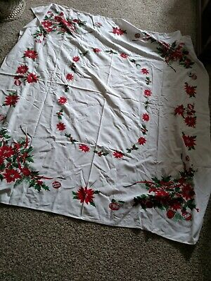 $ CDN7.27 • Buy Vintage Christmas Tablecloth