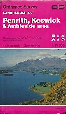 Landranger Maps: Penrith, Keswick And Ambleside Area Sheet 90 (OS Landranger Map • 2.29£