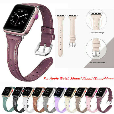 $ CDN11.95 • Buy For Apple Watch Series 6 SE 5 4 3 21 Leather Bracelet Strap Replace Band 38-44mm