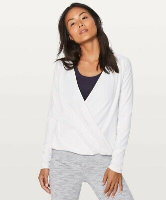 $ CDN42.31 • Buy NWOT Lululemon White Full Freedom Long Wrap Top Crossover 4