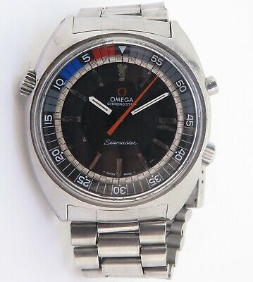$ CDN661.10 • Buy Vintage 1970 Omega Chronostop Seamaster Chronograph Steel Watch 145.008 $1 N/R