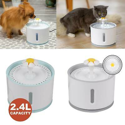 £15.19 • Buy 2.4L Electric Cat Dog Automatic Water Fountain Dispenser Pet Drinking Bowl Light
