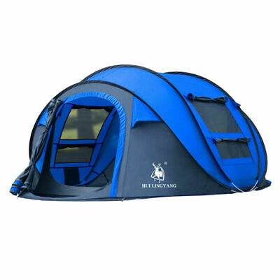 AU128 • Buy 3-4 Person Man Camping Waterproof Beach Tent Dome Tent Pop Up Hiking Shelter AU