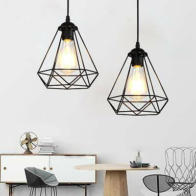 £7.99 • Buy Metal Pendant Light Shade Ceiling Industrial Geometric Wire Cage Lampshade