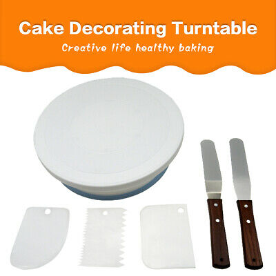 £5.99 • Buy 6Pcs Cake Decorating Turntable 11-24  Set Tools Rotating Stand Smoother Spatula