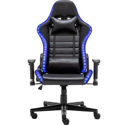 AU84.26 • Buy Gaming  RGB Chair Office Home Racing Leather Chair With RGB Lightning PC Chair