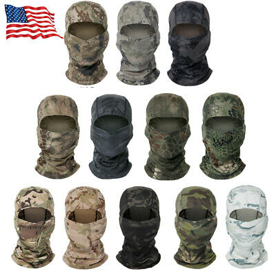 $7.99 • Buy Hood Full Face Mask Tactical Military Army Camo Camouflage HUNTING Balaclava