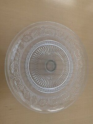 £5.40 • Buy Large Decorative Crystal Cake Stand With Dome Lid