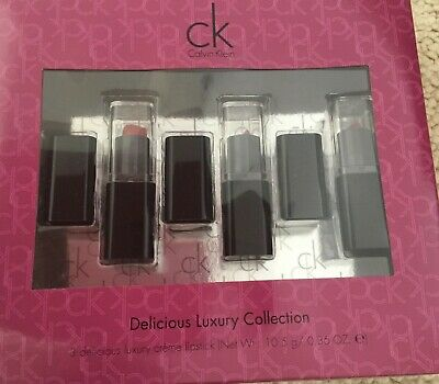 £1.50 • Buy CK Calvin Klein Delicious Luxury Gift Set Of 3 Creme Lipsticks