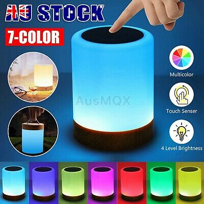 AU29.99 • Buy Touch LED Night Light Lamp Table Bedside Desk Mood USB Dimmable Rechargeable