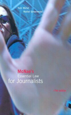 £2.96 • Buy McNae's Essential Law For Journalists, McNae, L.C.J., Used; Good Book
