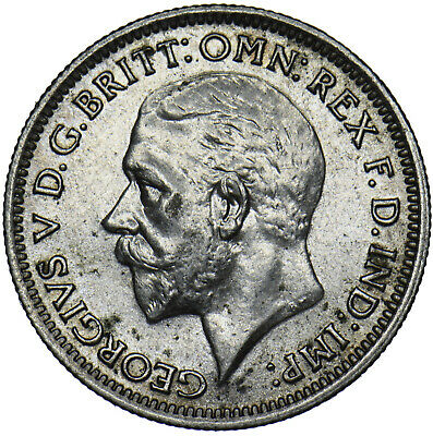 £7 • Buy 1936 Sixpence - George V British Silver Coin - V Nice