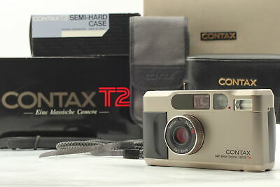$ CDN2061.13 • Buy [MINT / Boxed] Contax T2 35mm Point & Shoot + RARE! Semi Hard Leather Case JAPAN