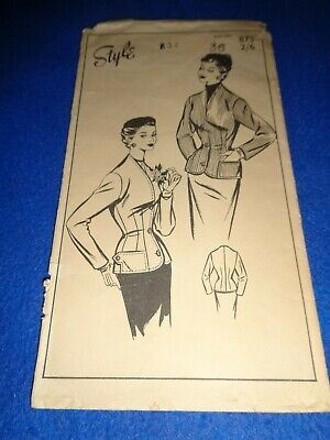 £4.50 • Buy Vintage Style Sewing Pattern - Lady's Jacket  Bust 36 Inches