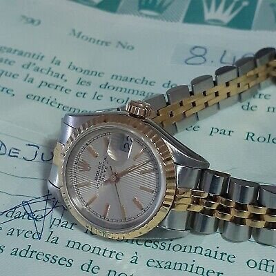 $ CDN4945.63 • Buy W/Papers Rolex Ladies Datejust 26 Mm Two Tone Automatic Watch 69173 Circa 1984
