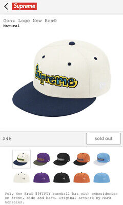 $ CDN83.71 • Buy Supreme Gonz Logo New Era® Natural 7 1/2 New