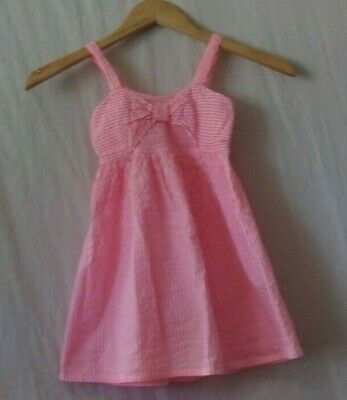 AU2.17 • Buy Girls Straps Dress Age 3-4 Years Pink And White